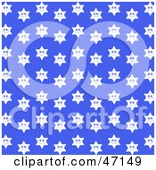 Clipart Illustration Of A Blue Background Of White Happy Stars