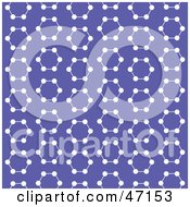 Clipart Illustration Of A Purple Background Of White Molecules by Prawny