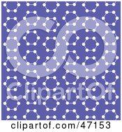 Purple Background Of White Molecules