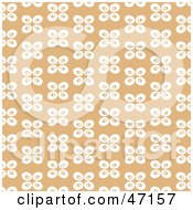 Clipart Illustration Of A Tan Background Of White Abstract Butterflies by Prawny
