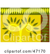 Clipart Illustration Of An Abstract Background Of A Leafy Tree by Prawny