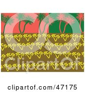 Clipart Illustration Of An Abstract Background Of Palm Trees by Prawny