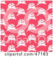 Clipart Illustration Of A Pink Background Of Dinosaur Patterns by Prawny