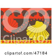 Clipart Illustration Of An Abstract Background Of Scallops by Prawny