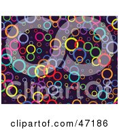 Clipart Illustration Of A Purple Background Of Colorful Circles