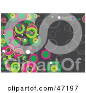 Clipart Illustration Of A Gray Background Of Colorful Circles
