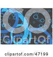 Clipart Illustration Of A Gray Background Of Blue Rings And Circles