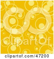 Clipart Illustration Of A Yellow Background Of Circles