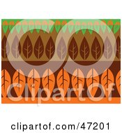 Clipart Illustration Of An Abstract Background Of Rows Of Leaves by Prawny