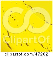 Clipart Illustration Of An Abstract Banana Skin Background by Prawny