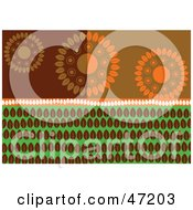 Clipart Illustration Of An Abstract Background Of Leaf Circles And Rows by Prawny