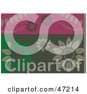 Clipart Illustration Of An Abstract Leaf Flower Background by Prawny