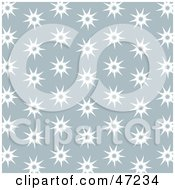 Clipart Illustration Of A Gray Background Of White Spiky Stars