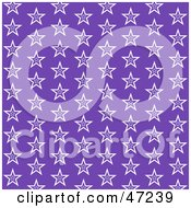 Clipart Illustration Of A Purple Background Of White Stars