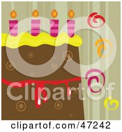 Clipart Illustration Of A Birthday Cake Slice Background by Prawny