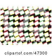 Royalty Free RF Clipart Illustration Of A Green Background Of Colorful Blank Film Frames