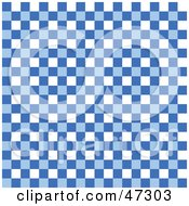Royalty Free RF Clipart Illustration Of A Blue And White Checkered Background