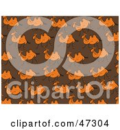 Royalty Free RF Clipart Illustration Of A Brown Background Of Running Camels