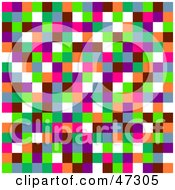 Royalty Free RF Clipart Illustration Of A Random Colored Pixel Background