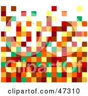 Royalty Free RF Clipart Illustration Of A Green And Brown Pixel Background