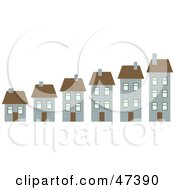 Royalty Free RF Clipart Illustration Of A Neighborhood Of Growing Homes by Prawny