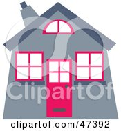 Royalty Free RF Clipart Illustration Of A Gray And Pink House