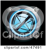 Royalty Free RF Clipart Illustration Of A Glowing Blue Restricted Envelope Button by Frog974