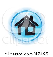 Royalty Free RF Clipart Illustration Of A Blue Home Button