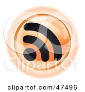 Royalty Free RF Clipart Illustration Of An Orange RSS Button