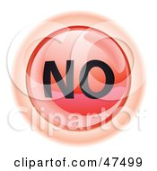 Royalty Free RF Clipart Illustration Of A Red No Button by Frog974