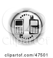 Royalty Free RF Clipart Illustration Of A Gray Cell Phone Button