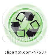 Royalty Free RF Clipart Illustration Of A Green Recycle Button by Frog974