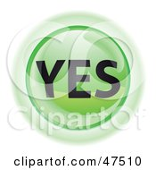 Royalty Free RF Clipart Illustration Of A Green Yes Button by Frog974