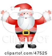 Royalty Free RF Clipart Illustration Of A Jolly Father Christmas Santa Claus In His Red Suit