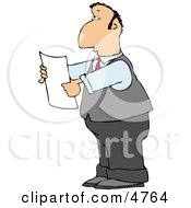 Lawyer Reading An Important Legal Document Clipart by djart
