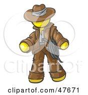 Yellow Design Mascot Man Cowboy Adventurer