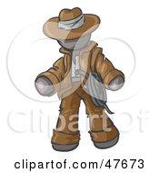 Gray Design Mascot Man Cowboy Adventurer