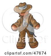 Poster, Art Print Of Brown Design Mascot Man Cowboy Adventurer