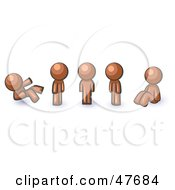Royalty Free RF Clipart Illustration Of A Blue Design Mascot Man In Different Poses