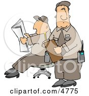 Two Male Security Guards Clipart