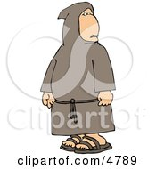 Religious Buddhist Christian Monk Clipart by djart