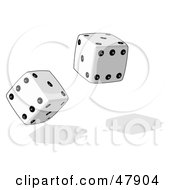 Royalty Free RF Clipart Illustration Of Rolling Game And Casino Dice by Leo Blanchette