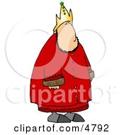 Crowned Royal King Of A Nation Clipart