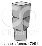 Royalty Free RF Clipart Illustration Of A Stack Of Three Gray Blocks by Leo Blanchette