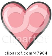 Royalty Free RF Clipart Illustration Of A Plump And Shiny Pink Heart