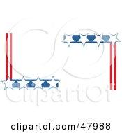 Royalty Free RF Clipart Illustration Of Patriotic American Star Corner Designs by Prawny