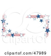 Royalty Free RF Clipart Illustration Of American Stars And Stripes Corner Designs by Prawny