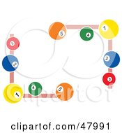 Royalty Free RF Clipart Illustration Of Pool Ball Corner Designs by Prawny