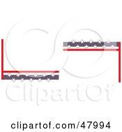 Royalty Free RF Clipart Illustration Of Star Corner Designs by Prawny