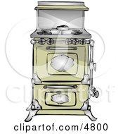 Antique Retro Kitchen Stove  Oven